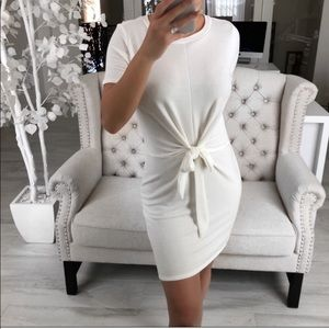 ekattire Pearl Tie Front Dress